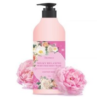 Гель для душа DEOPROCE MILKY RELAXING BODY WASH COTTON ROSE