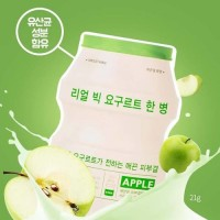 Маска для лица тканевая йогуртная A'PIEU Real Big Yogurt One Bottle (Apple)
