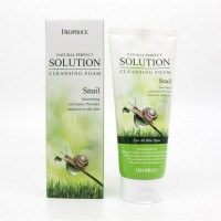 Пенка для умывания DEOPROCE NATURAL PERFECT SOLUTION CLEANSING FOAM SNAIL