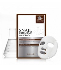 Маска для лица тканевая с муцином улитки Snail Intensive Mask Pack 1P(sheet) 20г